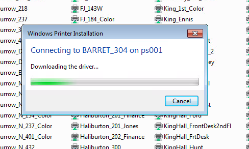Printer is installing itself
